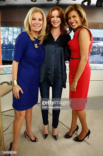Kathie Lee Gifford Marcia Cross and Hoda Kotb appear on NBC News' Today show
