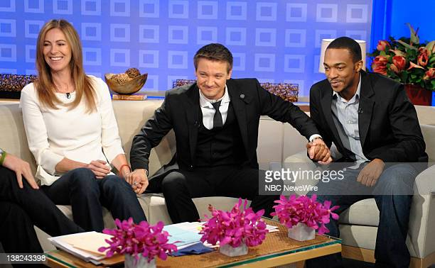 Kathryn Bigelow Jeremy Renner and Anthony Mackie appear on NBC News' Today show