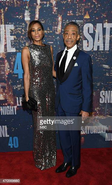 Kathy Jordan Al Sharpton walk the red carpet at the SNL 40th Anniversary Special at 30 Rockefeller Plaza in New York NY on February 15 2015