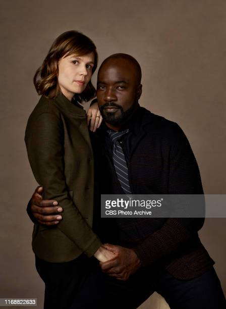Pictured Katja Herbers as Kristen Bouchard and Mike Colter as David Acosta of EVIL on the CBS Television Network
