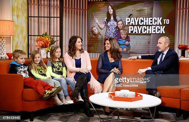 "Katrina Gilbert, Maria Shriver and Matt Lauer appear on NBC News' ""Today"" show --"