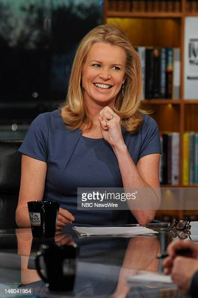Katty Kay Washington Correspondent and Anchor BBC World News America appears on Meet the Press in Washington DC Sunday Jan 22 2012