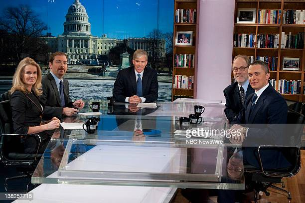 Katty Kay Washington Correspondent BBC World News America left Chuck Todd Political Director NBC News left rear moderator David Gregory center Mike...