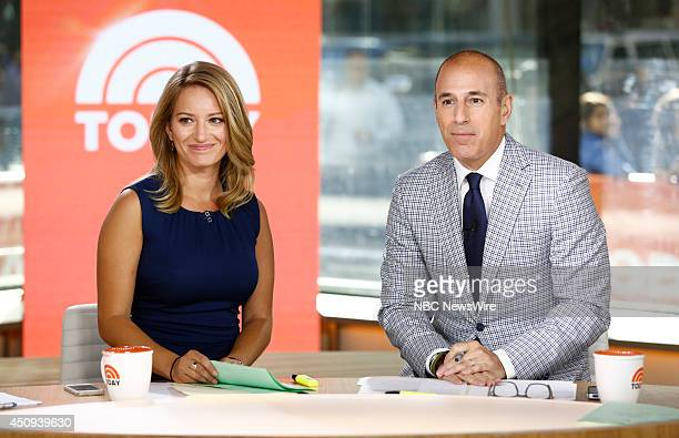 Katy Tur and Matt Lauer appear on NBC News' Today show