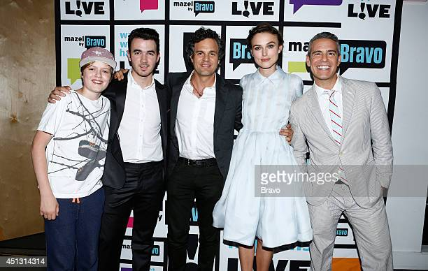 LIVE Pictured Keen Ruffalo Kevin Jonas Mark Ruffalo Keira Knightley and Andy Cohen