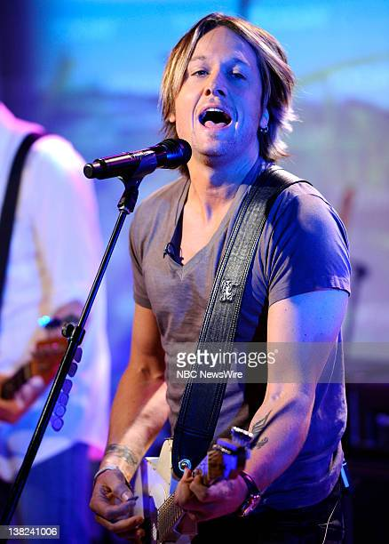 Keith Urban performs on NBC News' Today show