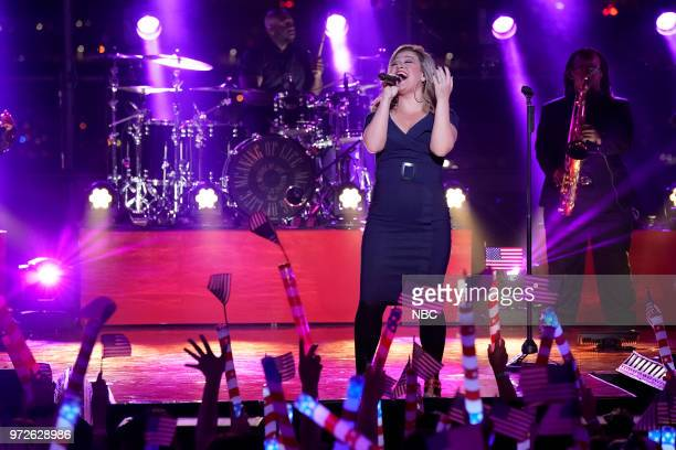 S FOURTH OF JULY FIREWORKS SPECTACULAR Pictured Kelly Clarkson rehearses for the 2018 'Macy's Fourth of July Fireworks Spectacular' at the South...