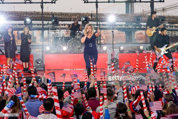 S FOURTH OF JULY FIREWORKS SPECTACULAR Pictured Kelly Clarkson rehearses for the 2018 Macy's Fourth of July Fireworks Spectacular at the South Street...