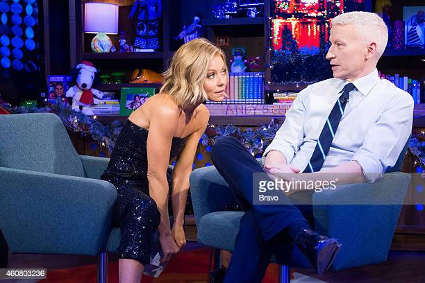 Kelly Ripa and Anderson Cooper