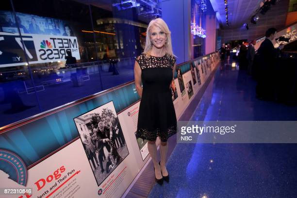 Kellyanne Conway toasts NBC News Meet the Press the longestrunning show in television history with 70 years and counting at the Newseum the night of...