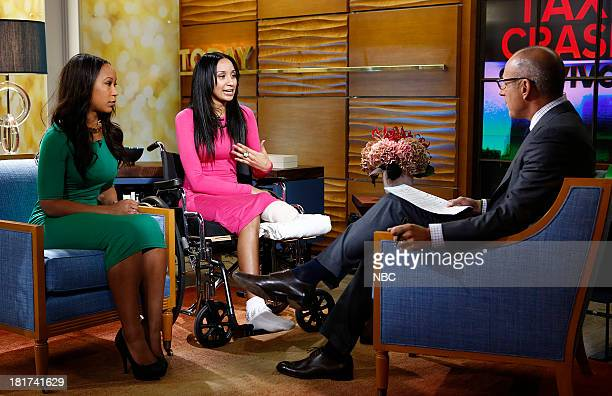 Keshia Warren Sian Green and Matt Lauer appear on NBC News' 'Today' show