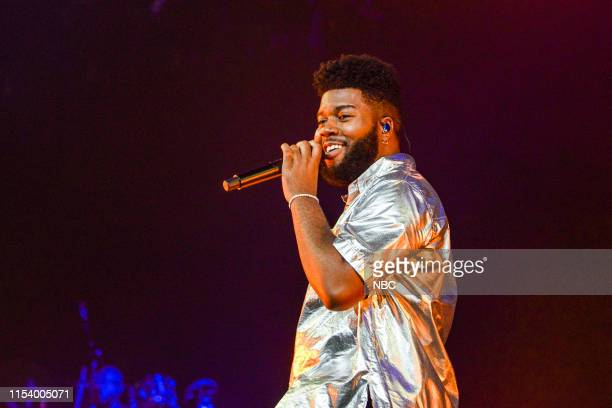 """Pictured: Khalid rehearses for the 2019 """"Macy's Fourth of July Fireworks Spectacular"""" --"""