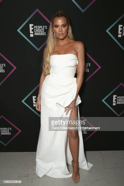 Khloe Kardashian backstage during the 2018 E People's Choice Awards held at the Barker Hangar on November 11 2018 NUP_185073
