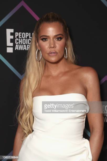 Pictured: Khloe Kardashian backstage during the 2018 E! People's Choice Awards held at the Barker Hangar on November 11, 2018 -- NUP_185073 --