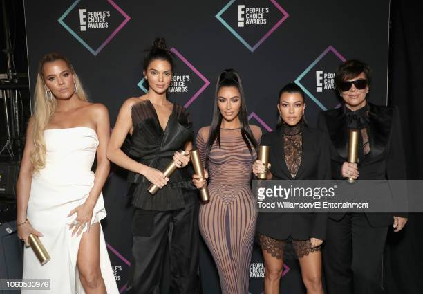Khloe Kardashian Kendall Jenner Kim Kardashian Kourtney Kardashian and Kris Jenne winners of the Reality Show of 2018 for 'Keeping Up With The...