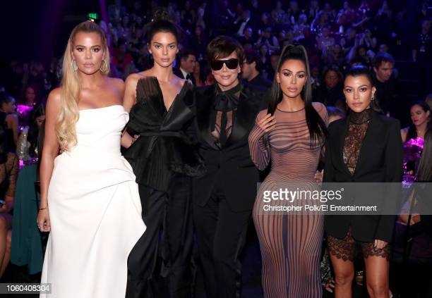 Khloe Kardashian Kendall Jenner Kris Jenner Kim Kardashian and Kourthney Kardashian during the 2018 E People's Choice Awards held at the Barker...