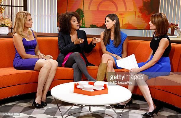 Kim Alexis Rene Syler Abby Huntsman and Savannah Guthrie appear on NBC News' 'Today' show