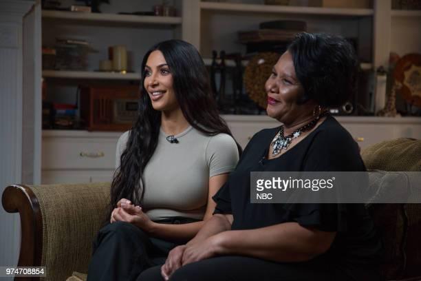 Kim Kardashian West and Alice Johnson on Wednesday June 13 2018