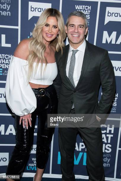 Kim ZolciakBiermann and Andy Cohen