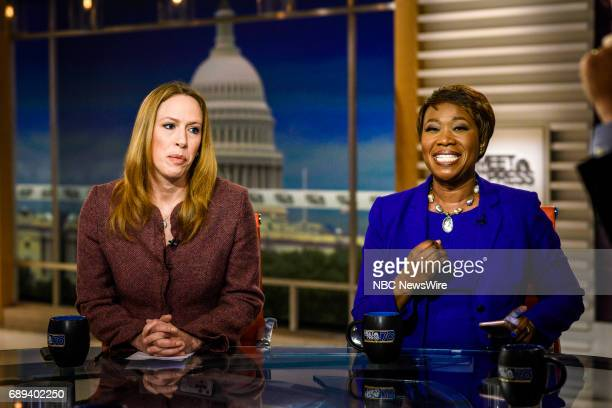 Kimberley Strassel Columnist The Wall Street Journal and Joy Reid Host MSNBCs AM Joy MSNBC Political Analyst appear on Meet the Press in Washington...