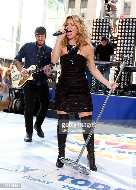 Kimberly Perry of musical guest The Band Perry performs on NBC News' 'Today' show on August 2 2013