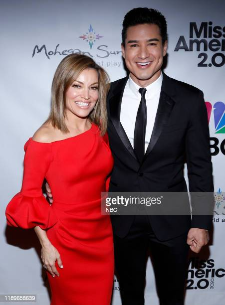Pictured: Kit Hoover, Mario Lopez at Mohegan Sun in Uncasville, CT on Thursday, December 19, 2019 --