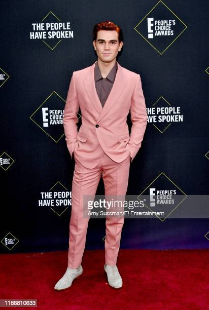 KJ Apa arrives to the 2019 E People's Choice Awards held at the Barker Hangar on November 10 2019 NUP_188989