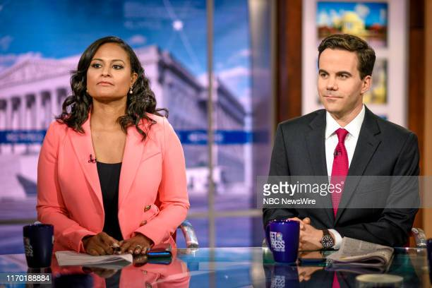 """Pictured: Kristen Welker, NBC News White House Correspondent, and Robert Costa, National Political Reporter, The Washington Post, appear on """"Meet the..."""
