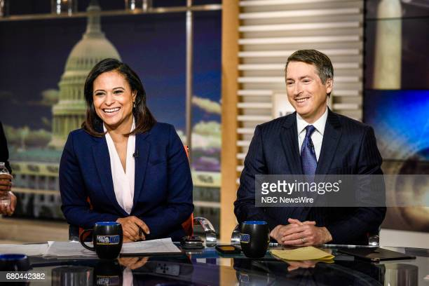 Kristen Welker NBC News White House Correspondents and Rich Lowry Editor National Review appear on Meet the Press in Washington DC Sunday May 7 2017