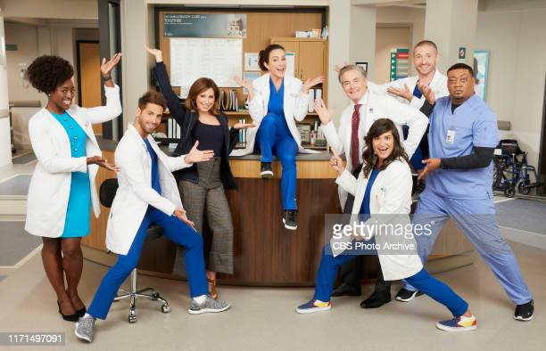 Pictured L to R Ito Aghayere as Dr Maya Jacobs JeanLuc Bilodeau as Daniel Ashley Tisdale as Jenny Patricia Heaton as Carol Kenney Kyle MacLachlan as...