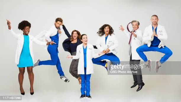 Pictured L to R Ito Aghayere as Dr Maya Jacobs JeanLuc Bilodeau as Daniel Ashley Tisdale as Jenny Patricia Heaton as Carol Kenney Sabrina Jalees as...