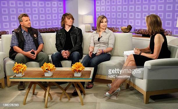 Laurence Sunderland Zac Sunderland Abby Sunderland and Meredith Vieira appear on NBC News' 'Today' show