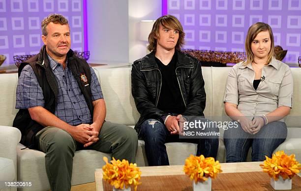 Laurence Sunderland Zac Sunderland and Abby Sunderland appear on NBC News' 'Today' show