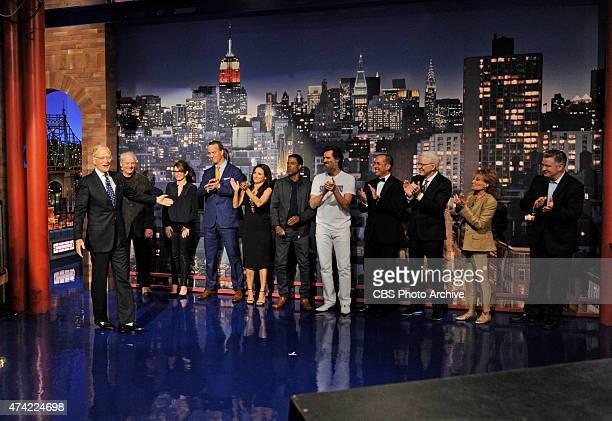 Pictured Left to right: Bill Murray, Tina Fey, Peyton Manning, Julia Louis-Dreyfus, Chris Rock, Jim Carrey, Jerry Seinfeld, Steve Martin, Barbara...
