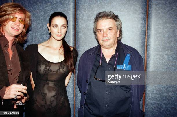 Pictured left to right Nicky Clarke Catherine Bailey and David Bailey attending the Elite Model Look of the Year competition Connaught Rooms London...