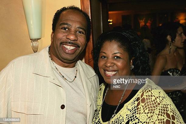 Leslie David Baker with his wife during the NBC Universal PreEmmy Party at Spago NBC EXCLUSIVE