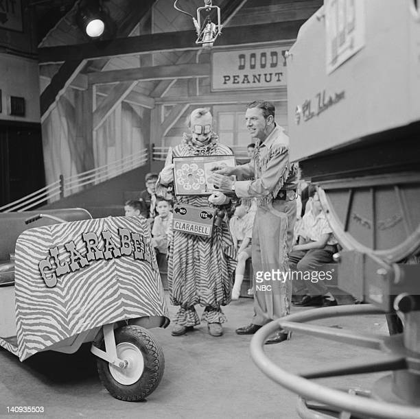 Lew Anderson as Clarabell the Clown Bob Smith as host Buffalo Bob Smith Photo by NBCU Photo Bank
