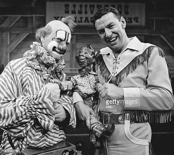 Lew Anderson as Clarabell the Clown Howdy Doody Bob Smith as Buffalo Bob Smith Photo by NBCU Photo Bank