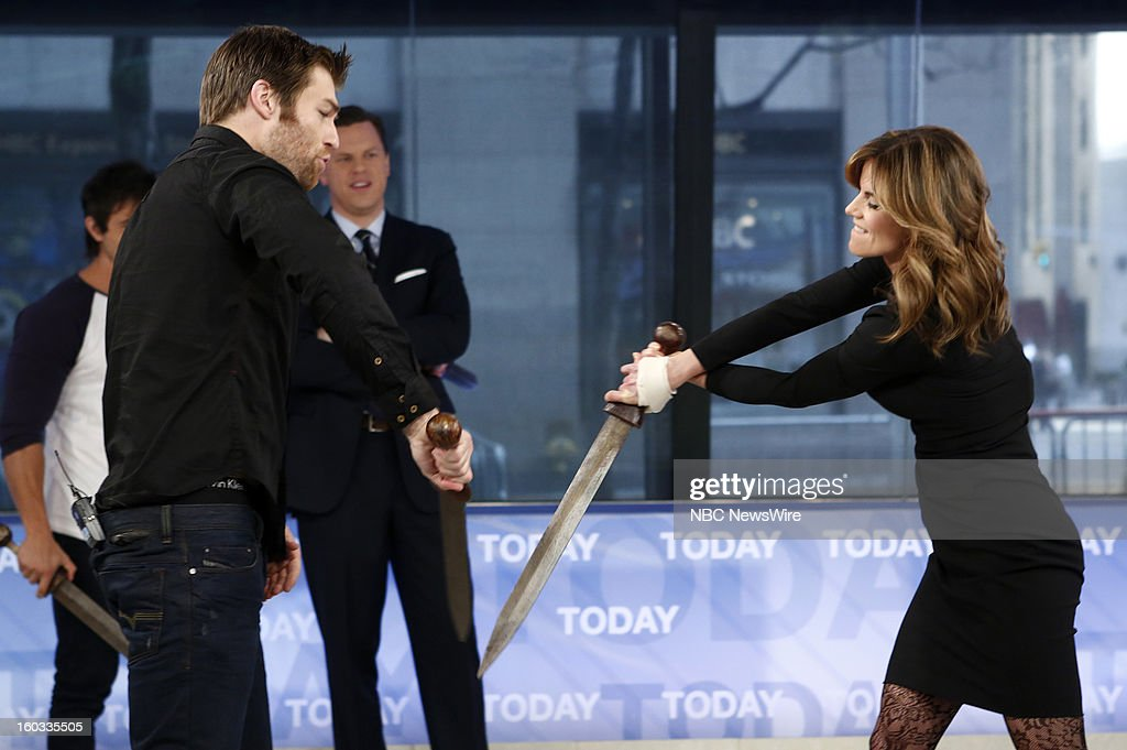 Liam McIntyre and Natalie Morales appear on NBC News' 'Today' show --