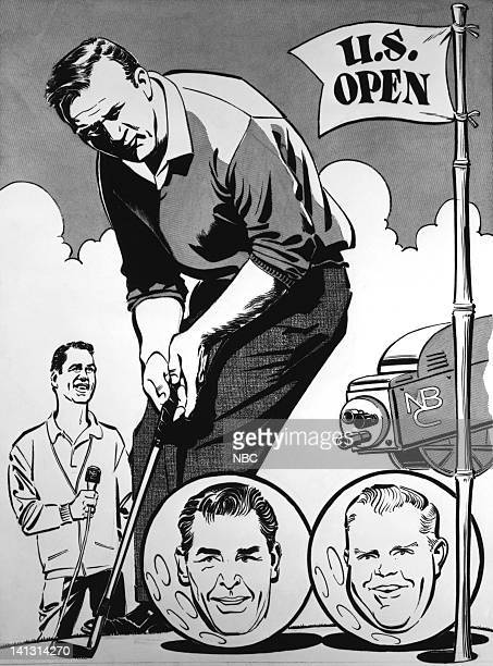 Lindsay Nelson commentator Arnold Palmer champion Gary Player Sammy Snead Photo by NBCU Photo Bank