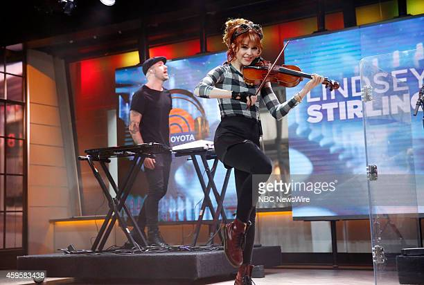 Lindsey Stirling appears on NBC News' Today show