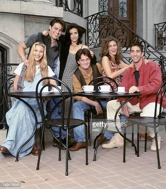 Lisa Kudrow as Phoebe Buffay, Matt LeBlanc as Joey Tribbiani, Courteney Cox Arquette as Monica Geller, Matthew Perry as Chandler Bing, Jennifer...