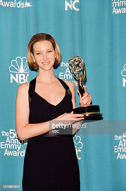 Lisa Kudrow winner of Outstanding Supporting Actress in a Comedy Series for Friends during the 50th Annual Primetime Emmy Awards held at the Shrine...