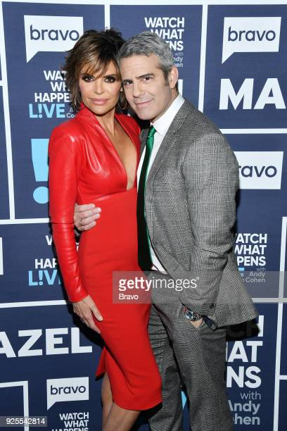 Lisa Rinna and Andy Cohen