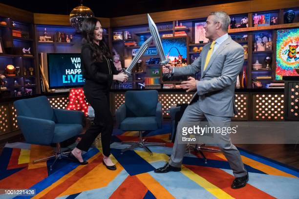 Liv Tyler and Andy Cohen