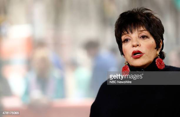 Liza Minnelli appears on NBC News' Today show March 12 2014