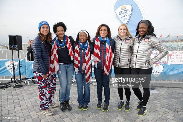 Lolo Jones Jazmine Fenlator Alana Meyers Lauryn Williams Jamie Greubel Aja Evans from the 2014 Olympics in Socci