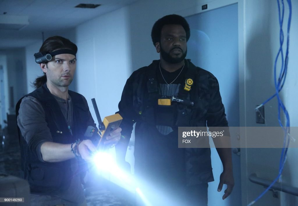 Adam Scott and Craig Robinson in the 'Ghost Studz' episode of GHOSTED airing Sunday, Nov. 19 (8:30-9:00 PM ET/PT) on FOX.