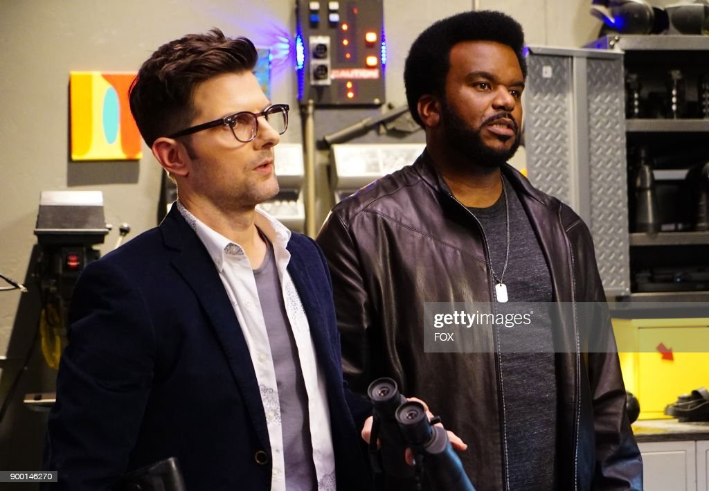 Adam Scott and Craig Robinson in the 'Hello Boys' episode of GHOSTED airing Sunday, Jan. 14 (8:30-9:00 PM ET/PT) on FOX.