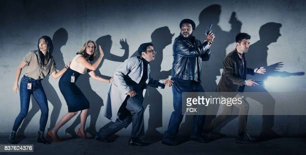 Pictured LR Amber Stevens West Ally Walker Adeel Akhtar Craig Robinson and Adam Scott on GHOSTED premiering Sunday Oct 1 on FOX
